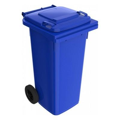 Plastová popelnice 120 l, modrá