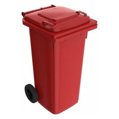 Plastová popelnice 120 l, červená