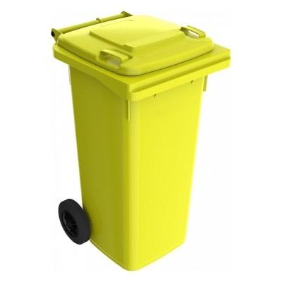 Plastová popelnice 120 l, žlutá