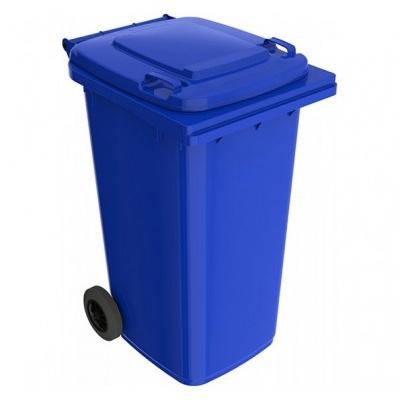 Plastová popelnice 240 l, modrá