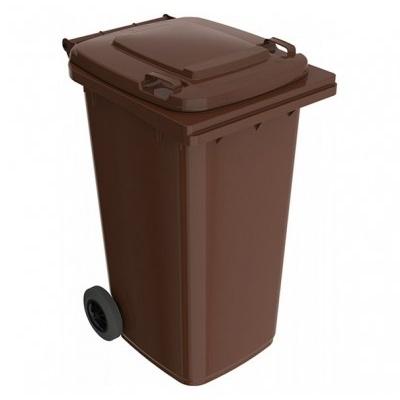Plastová popelnice 240 l, hnědá