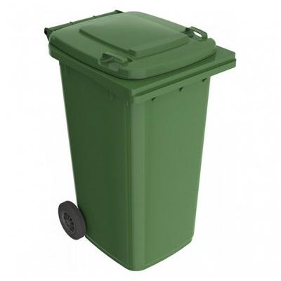 Plastová popelnice 240 l, zelená