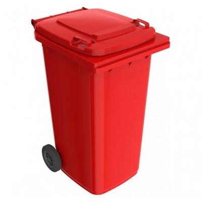 Plastová popelnice 240 l, červená