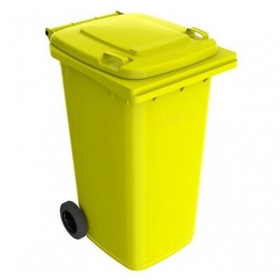 Plastová popelnice 240 l, žlutá