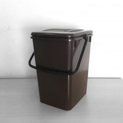Koš na kuchyňský odpad Biolyne 10 l, hnědý