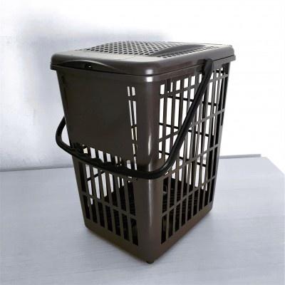 Koš na kuchyňský odpad Biodry 10 l, hnědý, větraný