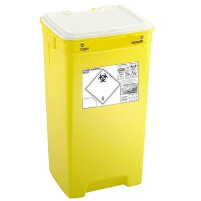 Nádoba na nemocniční odpad PACAZUR 60 l - žluté víčko v bílém víku