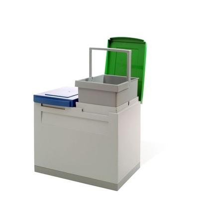 Odpadkový koš na tříděný odpad EKOMODUL 2x15 l