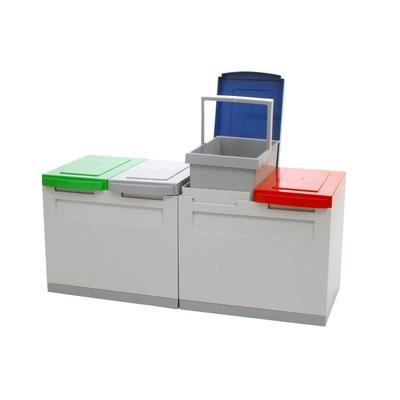 Odpadkový koš na tříděný odpad EKOMODUL 4x15 l