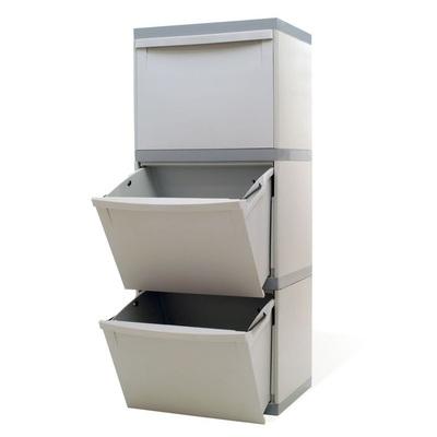 Odpadkový koš na tříděný odpad EKOMODUL 3x30 l