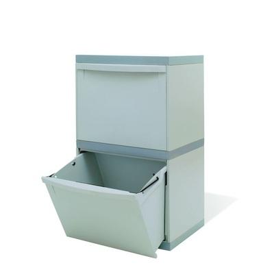Odpadkový koš na tříděný odpad EKOMODUL 2x30 l