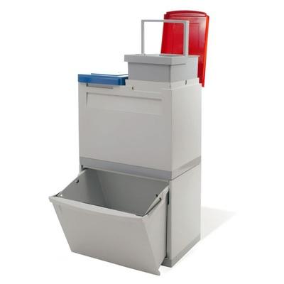 Odpadkový koš na tříděný odpad EKOMODUL 1x30 l + 2x15 l