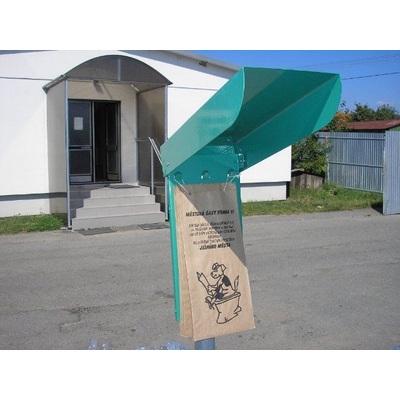 Schránka pro sáčky na psí exkrementy, zelená