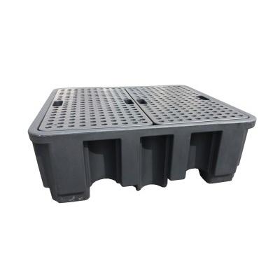 Záchytná vana pod čtyři 200 l sudy (záchytný objem 450 l)