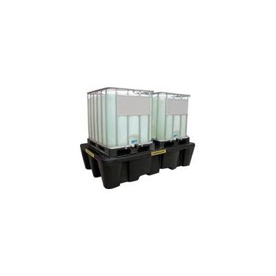 Záchytná vana s roštem pod 2 IBC kontejnery