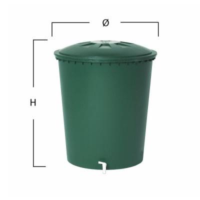 Plastová nádrž na dešťovou vodu ROLL 210-310-510 l