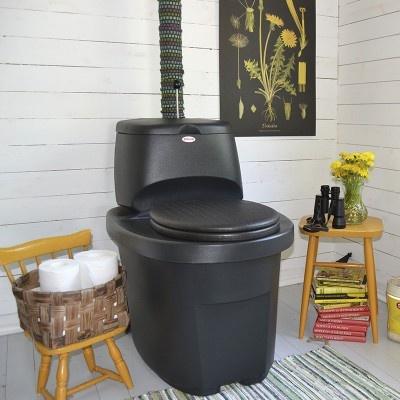 Separační suchá toaleta - tmavě šedá