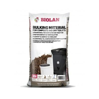 Zásypový kypřící materiál do kompostů a toalet, 35 l