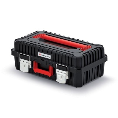 Kufr na nářadí s kovovými zámky, černý, 585x360x217 mm