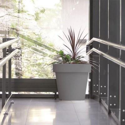 Velký květináč, průměr 100 cm - šedý kámen