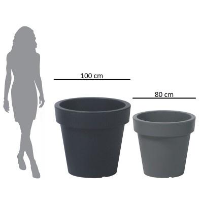 Velký květináč, průměr 80 cm - antracit