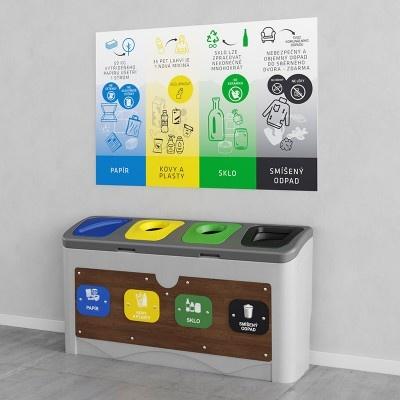Odpadkový koš na tříděný odpad Smart