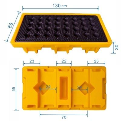 Záchytná vana pod 2 sudy (objem 83 l nebo 150 l)