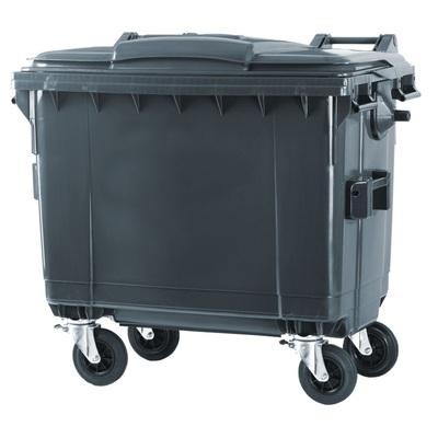 Plastový kontejner na komunální odpad 660 l, černý