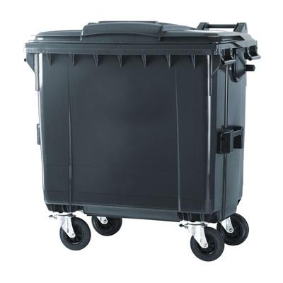 Plastový kontejner na komunální odpad 770 l, černý