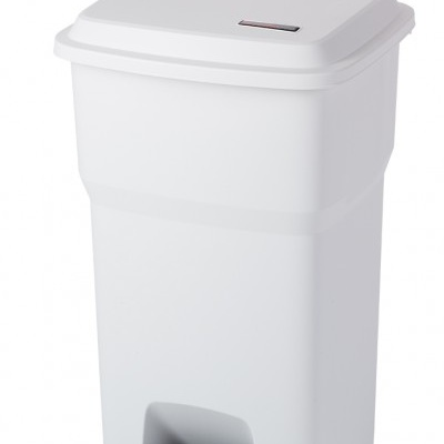 Odpadkový koš Hera s pedálem - bílý