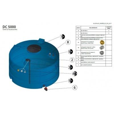 Nádrž na vodu a kapaliny DC 5000 l