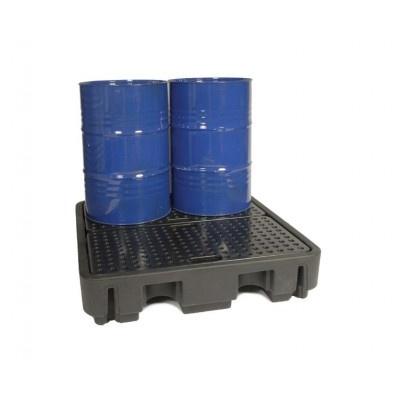 Záchytná vana pod čtyři 200 l sudy (záchytný objem 250 l)