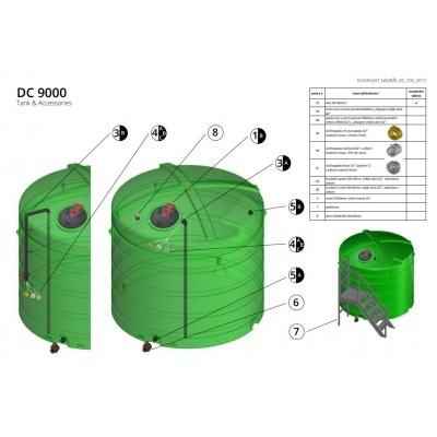 Nádrž na vodu a kapaliny DC 9000 l