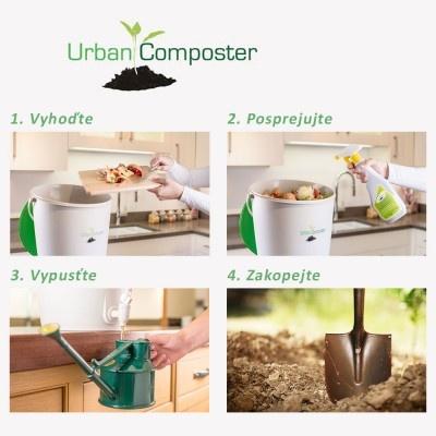Domácí kompostér na recyklaci bioodpadu z kuchyně