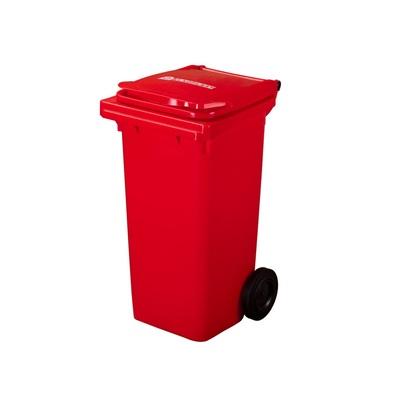 Plastová popelnice ELKOPLAST 120 l, červená C