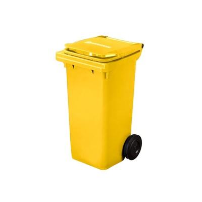 Plastová popelnice ELKOPLAST 120 l, žlutá C