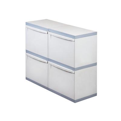 Odpadkový koš na tříděný odpad EKOMODUL 4x30 l