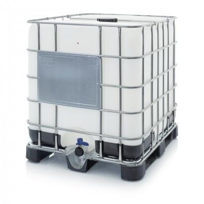 Nový IBC kontejner s plastovou paletou NW 150/50 (Schválení OSN UN 31HA1/Y)