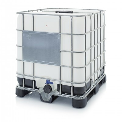 Nový IBC kontejner s plastovou paletou NW 225/80 (Schválení OSN UN 31HA1/Y)