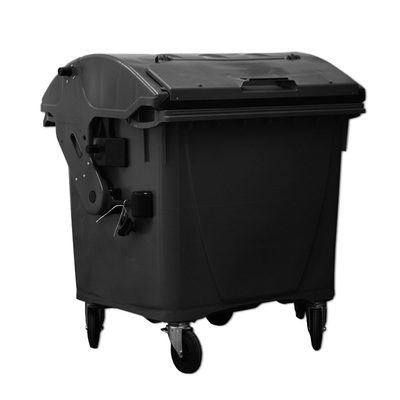Plastový kontejner 1100 l víko ve víku, černý