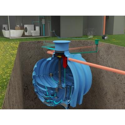Podzemní nádrž na vodu NEPTUN 4-6 m3, sestava pro dům a zahradu PLUS