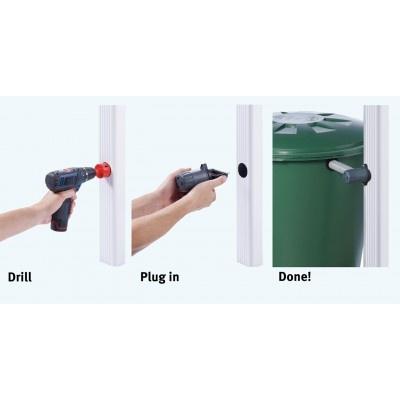 Sběrač dešťové vody pro hranaté svody, na rychlomontáž bez filtru