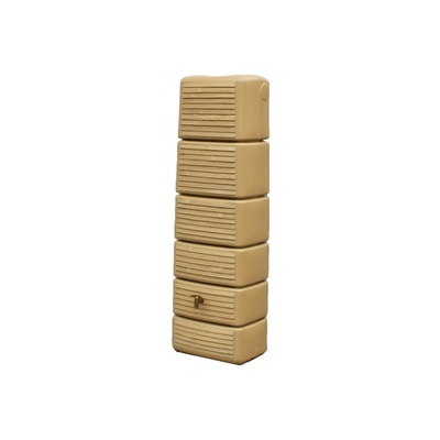 Zahradní plastová nádrž na dešťovou vodu SEINE 300 l, dřevo - light wood/dřevo