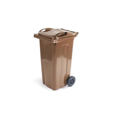 Plastová popelnice ELKOPLAST 240 l, hnědá ST