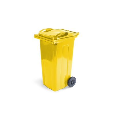 Plastová popelnice ELKOPLAST 240 l, žlutá ST