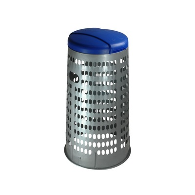 Stojan na odpadkové pytle ECO TRESPOLO 110 l - šedá nádoba, zelené víko