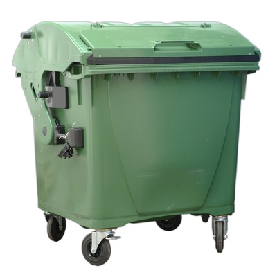 Plastový kontejner 1100 l víko ve víku, zelený