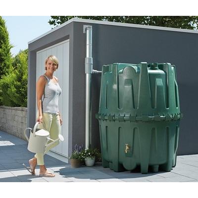 Plastová zahradní nádrž na dešťovou vodu HERKULES 1600 l