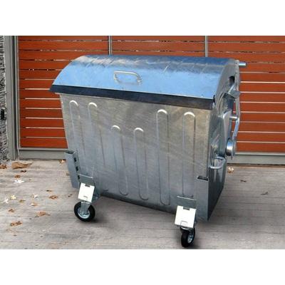 Plechový žárově zinkovaný kontejner 1100 litrů