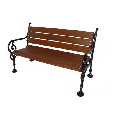 Litinová lavička Schonbrunn 3P